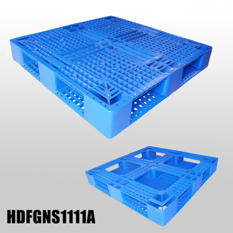 1100*1100 Full Perimeter Open Decks Cheap Blue Plastic Pallets