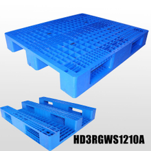 1200*1000 Three Runners Grid Deck Stackable Rackable Plastic Pallets