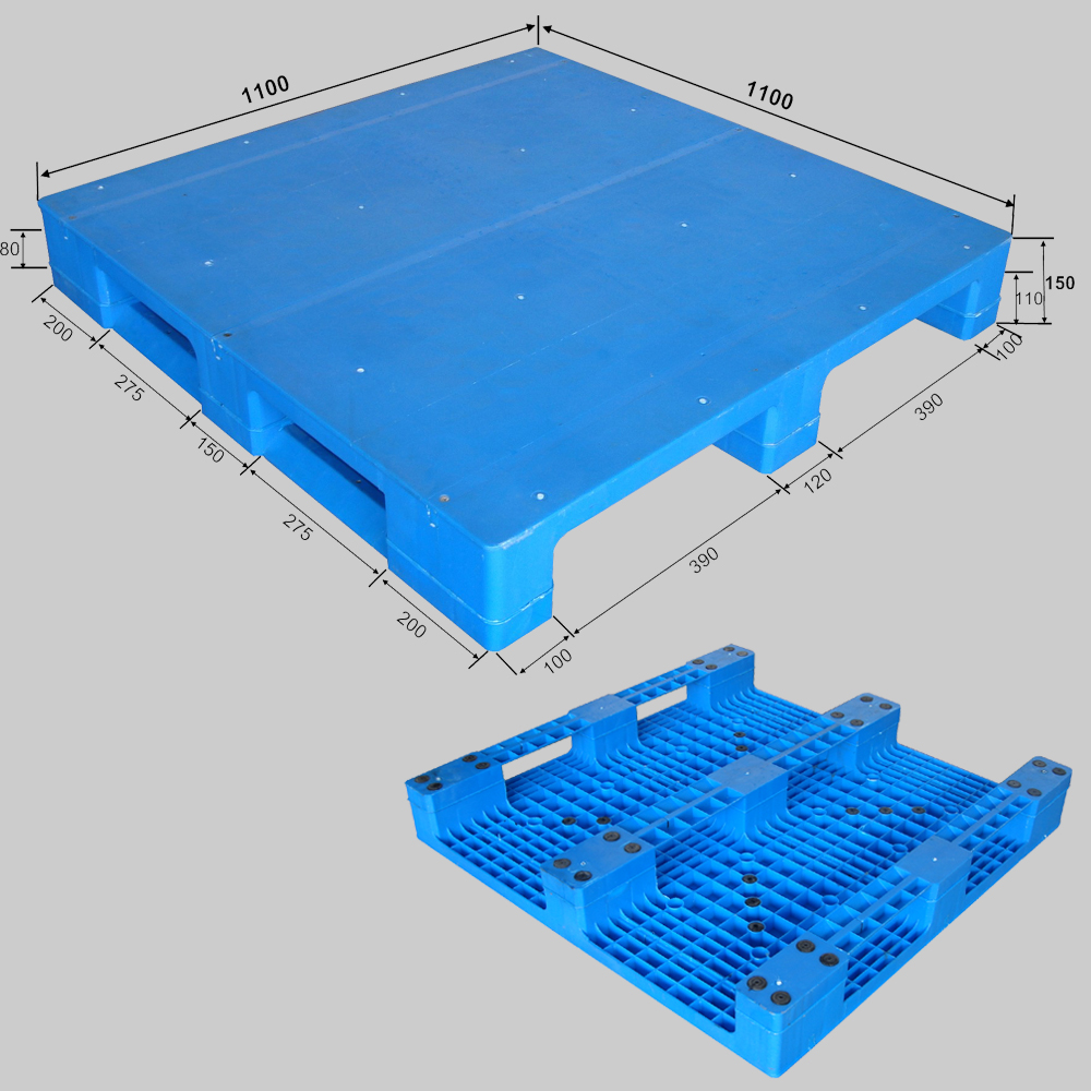 1100*1100*150 /170 /180 mm 3 runners closed deck plastic pallet