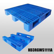 1100x1100x155mm Open deck 3 Runners plastic pallet,heavy duty