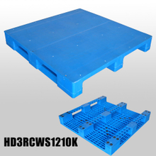 1200*1000 Three Runners Closed Deck Heavy-duty Hygeian Plastic Pallet