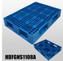 1100*800 Full Perimeters Open Deck Export Stackable Blue Plastic Pallet