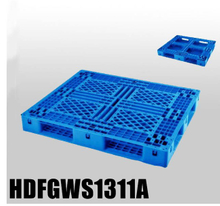 1300*1100 Full Perimeter Open Deck Blue Stackable Plastic Pallet