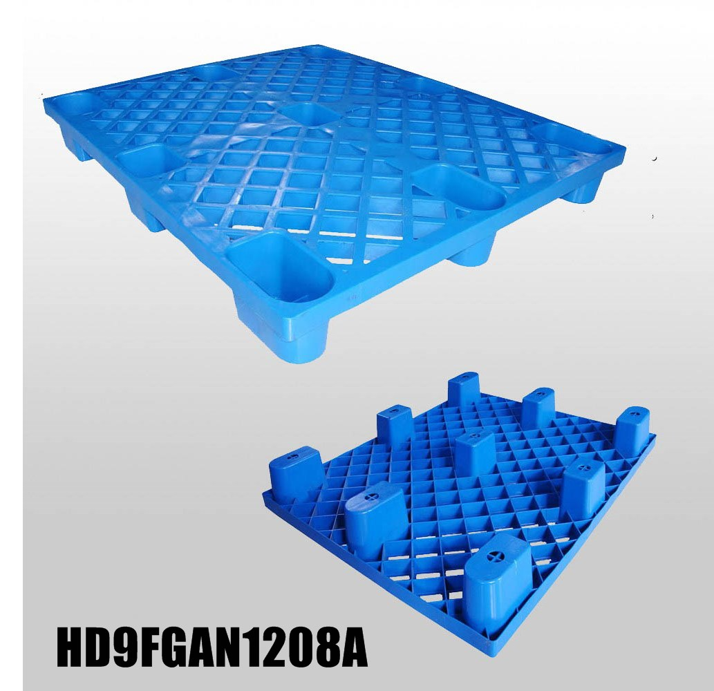 1200*800*140mm plastic pallet with 9 feet,open deck