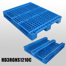 1200*1000 Three Runners Single Face Open Deck Industry Plastic Pallet