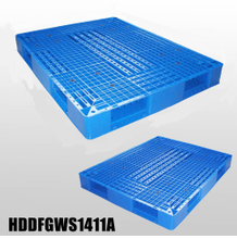 Double-faced Stackable plastic pallet L1400*W1100*H150
