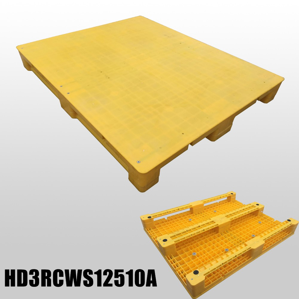 1250*1000*150 mm plastic pallets with 3 runners and closed deck