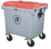 Recyclable Large 660L Plastic Dustbins