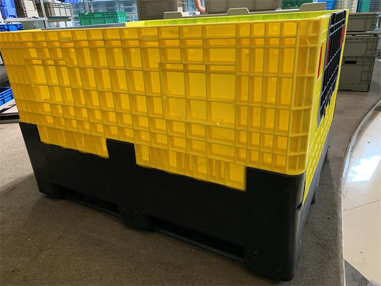 Collapsible Plastic Pallet Box for Racking