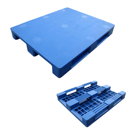 Recycled Reinforced Plastic Pallets for Warehouse Storage