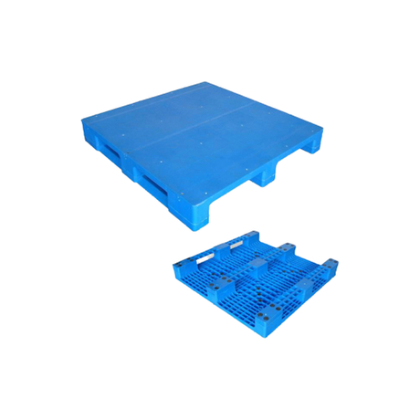 3Runners Close Deck Plastic Pallets with Steel Tubes Reinforced