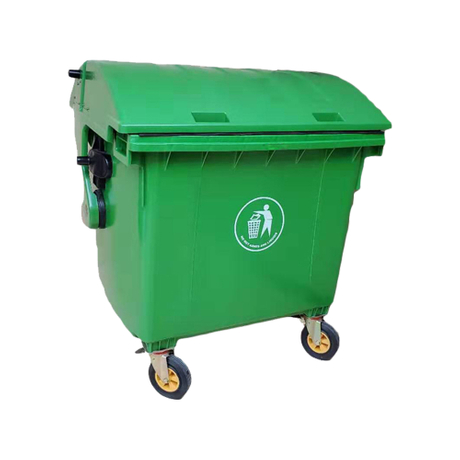 1200L Trash Bucket with Wheels And Lid