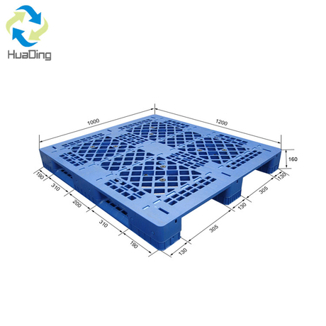 1200 X 1000 Three Runners Single Faced Grid Deck Hard Plastic Pallet