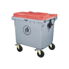 Outdoor Plastic 1100L Garbage Can