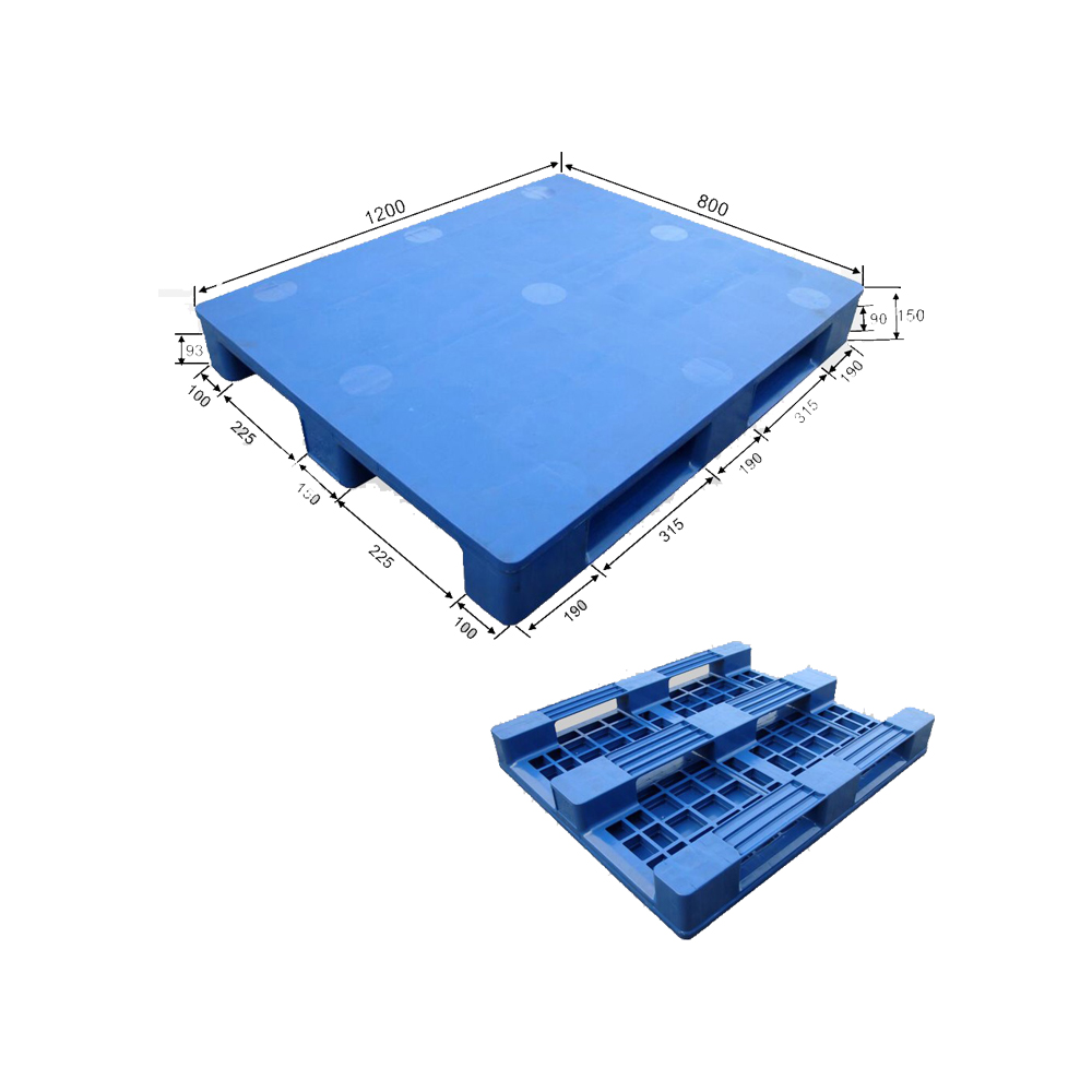 1100*1100 Three Runners Close Deck Reinforced Euro Plastic Pallets