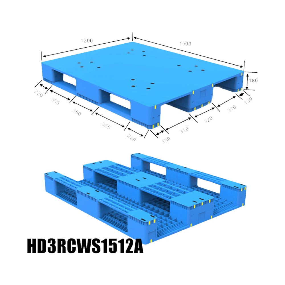 1500*1200*180 Stacked Racking Plastic Pallet