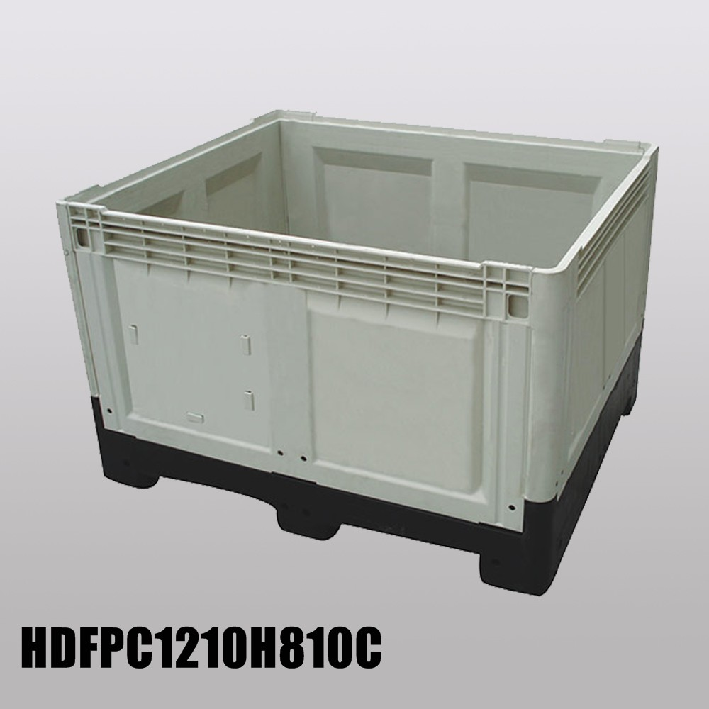 Plastic Folding Pallet Box for Sale with Steel Tube