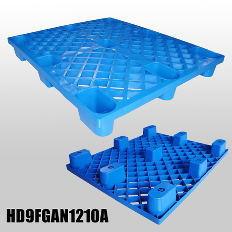 L1200*W1000*H140m nestable plastic pallet with 9 fee & grid deck