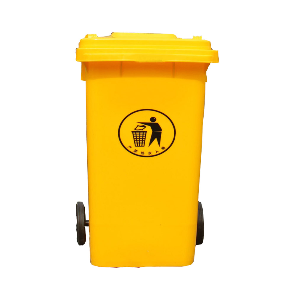 120L Plastic Bin Garbage Cans on Wheel