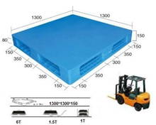 Plastic Pallet with Smooth Surface. Double-Faced.